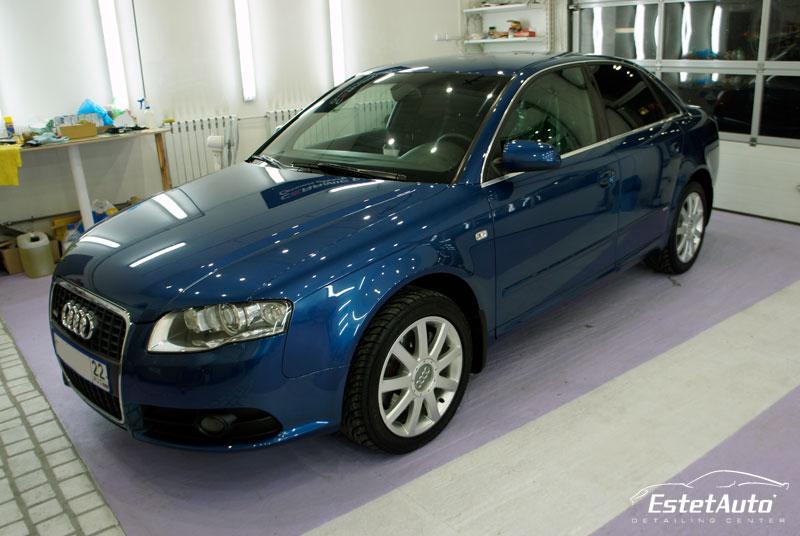 ***** Audi A4 (2007) - полировка, жидкое стекло