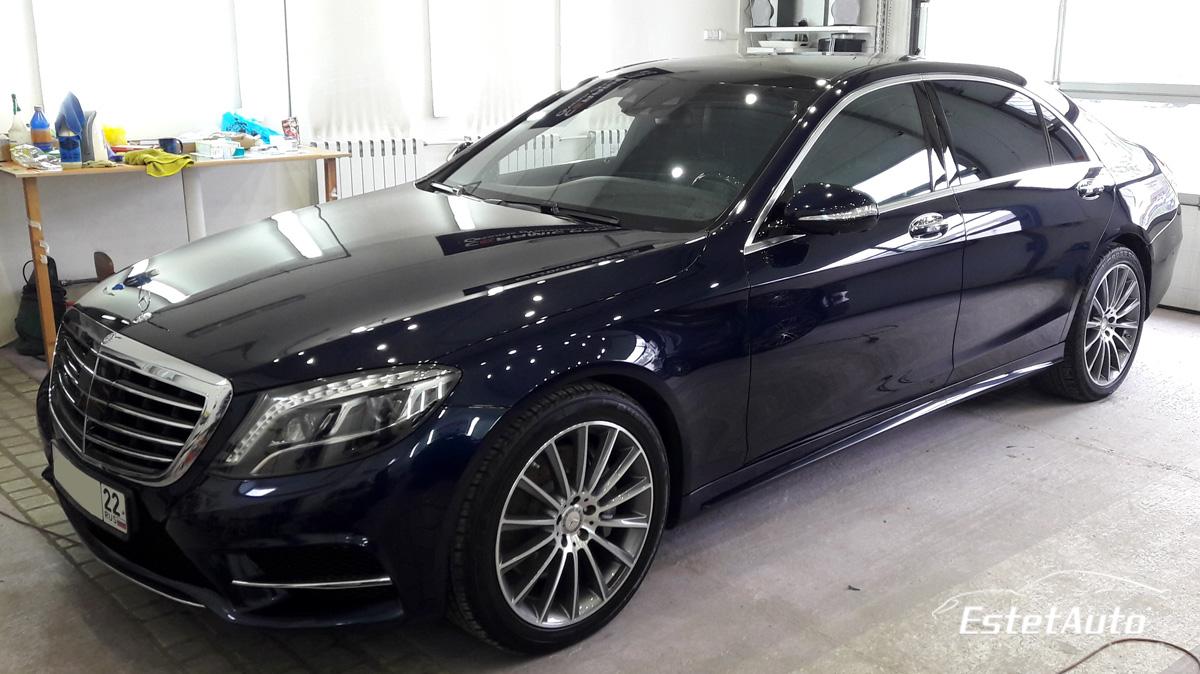 ***** Mercedes S500, полировка + нанокерамика